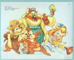 Disney Saint Vincent Chip In Dale Series $6 SHEET MNH Cip & Ciop - Disney