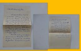 Guerre 39-45 Fidèles Du Maréchal, Let Autographe Geslin Lucien, Versailles   Ref 420 ; PAP04 - Autografi