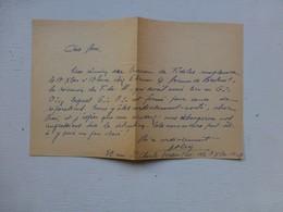 Guerre 39-45 Fidèles Du Maréchal, Let Autographe Geslin Lucien, Versailles   Ref 421 ; PAP04 - Autografi