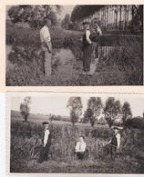 ¤¤  -   Lot De 5 Clichés D'un Groupe De Pêcheurs En 1934  -  Pêche à La Ligne    -  Voir Description     -  ¤¤ - Pesca
