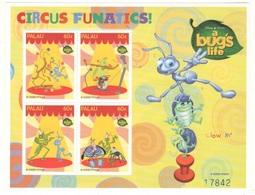 Disney Palau A Bug 's Life Series CIRCUS 60c SHEET MNH - Disney