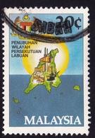 MALAYSIA 1984 Labuan Federal Territory 20c Sc#275 USED @PM098 - Malaysia (1964-...)