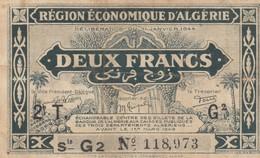 ALGERIA /  2 Francs _ 1944 - Algeria