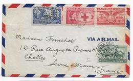 USA - 1949 - ENVELOPPE De NEW YORK Avec MECA + CACHET BRONX CENTRAL STATION  => CHELLES (SEINE ET MARNE) - United States
