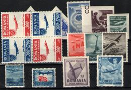 Rumanía Nº 32/3, 36/42, 44/6 - Aéreo