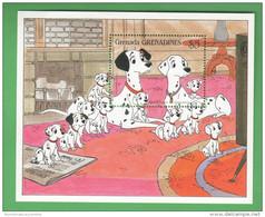 Disney Carica Dei 101 Cani Dalmata Grenada & Grenadines 101 Dalmations Series 5$ SHEET MNH - Disney
