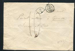Enveloppe De Paris Pour Gonesse En 1850 - Réf AT 43 - Marcophilie (Lettres)