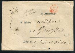 """Griffe """" Ministère De La Guerre Sur Enveloppe De Paris Pour Gonesse - Réf AT 44 - Marcophilie (Lettres)"""