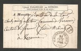 RARE - Saint Bonnet De JOUX - Semur En Brionnais - SOURCE - SOURCIER - Abbé PARAMELLE -  Voir Description - Postmark Collection (Covers)