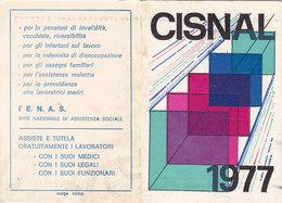 TESSERA- CISNAL / Unione Provinciale Del Lavoro _ 1977 - Documenti Storici