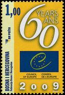 BOSNIE HERZEG. 60ans Conseil De L'Europe 1v Neuf ** MNH - Bosnie-Herzegovine
