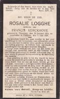 Torhout, Thourout, 1928, Pittem, Rosalia Logghe, Kerckhove - Devotieprenten