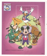 Topolino Paperino Pluto Cip & Ciop Disney Maldive MALDIVES 1994 Donald Duck Birthday 25 RF SHEET MNH Orchestra - Disney
