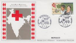 Enveloppe  FDC  1er  Jour   MONACO   CROIX  ROUGE   Lutte  Contre   La  Lépre  En  Inde   1995 - FDC