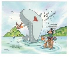 Topolino Disney Mickey And The Whale Christman Grenada & Grenadines 5$ Topolino Natale Series 1986 SHEET MNH - Disney