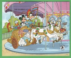 Paperino Topolino Pluto In Giostra Disney Gambia Mickey Philadelphia Carousel  SHEET MNH - Disney