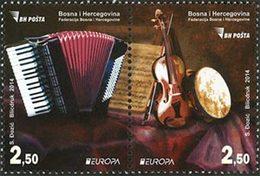 BOSNIE HERZEG. Europa 2014 2v Musique Neuf ** MNH - Bosnië En Herzegovina