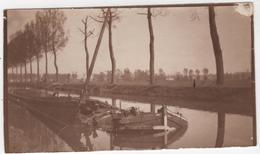 ABAA Photo Originale WWI Artillerie D'Afrique Canal De L'Est Près Verdun à Localiser Péniche Coulée Par Les Allemands - War, Military