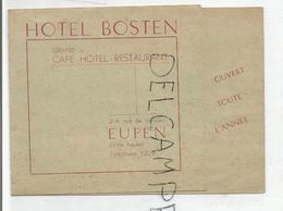 Hotel Bosten à Eupen (B). - Reclame