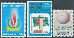 Bangladesh 1973 - 1974 , MNH  - Indonesia 1958 - Bangladesh