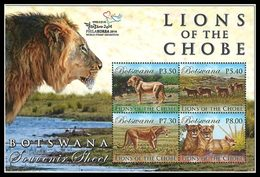BOTSWANA Bloc Lions Surcharge Philakorea 2014 Neuf ** MNH - Botswana (1966-...)