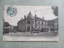 CPA 33 BORDEAUX LE CONSEIL DE GUERRE TRAMWAYS ATTELAGE - Bordeaux