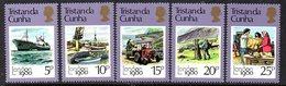 Tristan Da Cunha 1980 London '80 Exhibition Set Of 5, MNH, SG 277/81 - Tristan Da Cunha