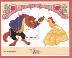 La Bella E La Bestia Disney  Saint Vincent Beauty And The Beast Series $ 6 SHEET MNH - Disney