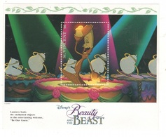 Disney Beauty And The Beast Saint Vincent Series $6 SHEET MNH La Bella E La Bestia - Disney