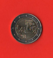 2 Euro Malta 2019 Tà Hagrat Temples F Mint France Zecca F - Malta