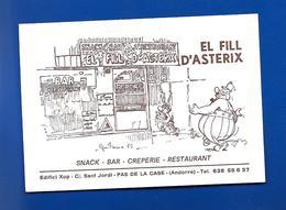 Carte De Restaurant EL FILL D'ASTERIX Signé Guitoune 85 - Other