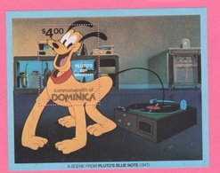 Disney PLUTO DOMINICA  50° Anniversay Series 4 $ SHEET MNH - Disney