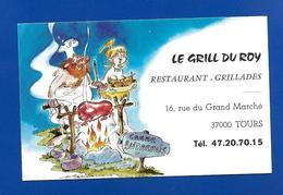 Carte De Restaurant LE GRIL Du ROY Tours Dessin De H. Blanc - Maps