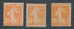 CX-179: FRANCE: Lot Avec N°141**(2)-141* - 1906-38 Sower - Cameo