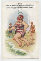 """Dame En Maillot Court Vers La Mer:"""" Je Me Suis Juré De Me Payer Du Bon Temps!"""". Donald McGill - Mc Gill, Donald"""
