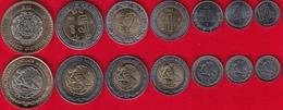 Mexico Set Of 7 Coins: 10 Centavos - 10 Pesos 2017 UNC - Mexico