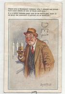 """Homme Au Bistrot, Verre De Bière:"""" Il Y A Mille Raisons ..."""". Donald McGill - Mc Gill, Donald"""