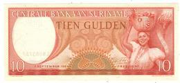 Suriname 10 Gulden 1963. UNC - Surinam