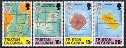 Tristan Da Cunha 1980 Royal Geographical Society Set Of 4, MNH, SG 296/9 - Tristan Da Cunha