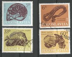 YU 1985-2092-5U FOSSILEN, 1 X 4v, Used - 1945-1992 République Fédérative Populaire De Yougoslavie