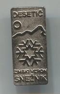 Alpinism, Mountaineering, Climbing - DESETIČ SNEŽNIK, Slovenia,  Vintage Pin, Badge, Abzeichen - Alpinismus, Bergsteigen