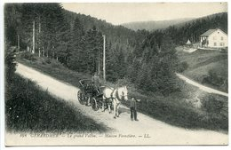 CPA 1920 * GERARDMER Le Grand Valtin Maison Forestière ( Animée Bel Attelage Cheval Blanc ) - Gerardmer