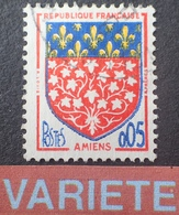 R1591/323 - 1952 - BLASON D'AMIENS - N°1352 ☉ - VARIETE ➤➤➤ Décalage De L'écusson Vers La Droite - Errors & Oddities