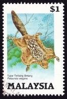MALAYSIA 1985 Protected Animals Petaunsta Elegans $1 Sc#298 - USED @PM093 - Malaysia (1964-...)