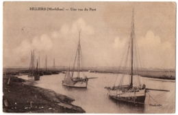 CPA 56 - BILLIERS (Morbihan) - Une Vue Du Port - Ed. Pinel - France
