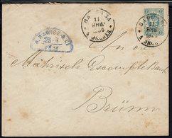 Pologne - 1886 - Enveloppe Entier Postal Russe 7 Kon, De Bapwaba Vers Brunn (Tch.) - ....-1919 Governo Provvisiorio