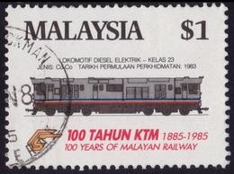MALAYSIA 1985 Train $1 Sc#303 - USED @PM105 - Malaysia (1964-...)