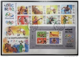 Iraq 2016 NEW Olympic Games Rio Large FDC - Iraq