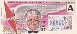 ¤¤  -  Billet De La Loterie Nationale De 1974   -  1/10   -  Confédération Des Débitants De Tabac De France   -  ¤¤ - Billets De Loterie