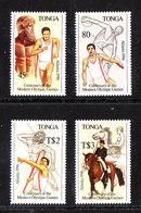 Tonga   - 1988.  Atletica, Equitazione. Athletics, Horse Riding. Complete MNH Series - Estate 1996: Atlanta